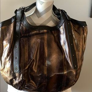 Cynthia Vincent Metallic Leather Berkeley Hobo